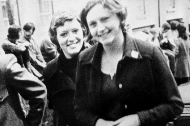 CONVICTED: Dolours Price, pictured on the left with her sister Marian, was jailed over the IRA car bombing of the Old Bailey in London in 1973. She was an outspoken critic of Sinn Fein president Gerry Adams in recent years.