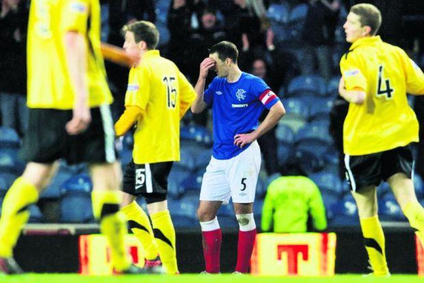 Lee Wallace can't disguise his despair over Montrose's last-gasp equaliser