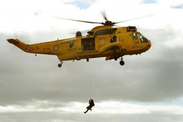 ON CALL: The mountain rescue team in Fort William is forced to rely on helicopters from the R
