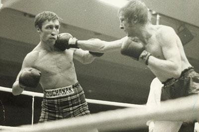 Jim Watt and Ken Buchanan exchange punches