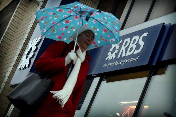 STORMY WEATHER: RBS lost 6% in value, becoming the biggest faller on the FTSE-100. Picture: Stewart Attwood
