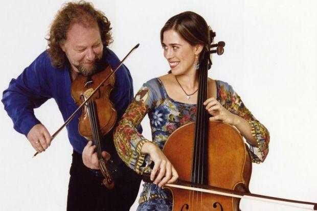 IN TUNE: Alasdair Fraser and Natalie Haas pass on their knowledge.
