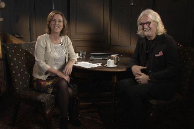 ROUND THE TABLE: The Review Show  is often hosted by Kirsty Wark and has recently had comedian and actor Billy Connolly as a guest. Under BBC Scotland restructuring plans the arts show could soon be moved to a monthly slot and staff numbers reduced by as