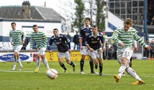 Kris Commons opens the scoring from the penalty spot. Picture: SNS