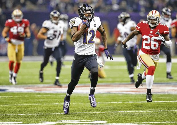 Hometown boy Jacoby Jones returns the ball 108-yards for a touchdown