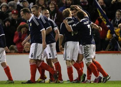 Mulgrew and team-mates celebrate