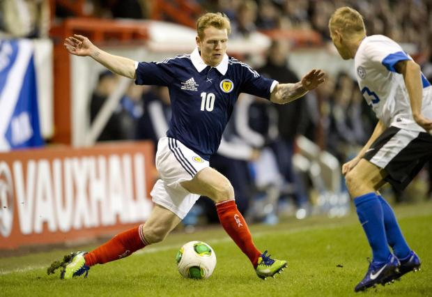 Chris Burke ended a seven-year wait for a recall this week. Picture: SNS