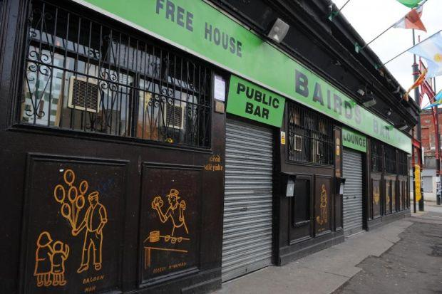 LAST ORDERS: Licensing chiefs have closed Bairds Bar, where Kenny Dalglish infamously held a press conference in 2000, after a series of violent incidents.