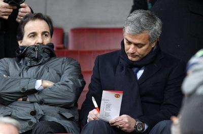 Taking notes at Old Trafford on Sunday