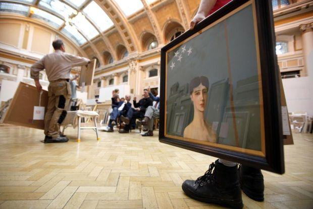 HISTORIC EVENT: Judges select pieces for the Royal Glasgow Institute of Fine Arts' annual exhibition, which may have to move from the city for the first time this year. Picture: Mark Mainz