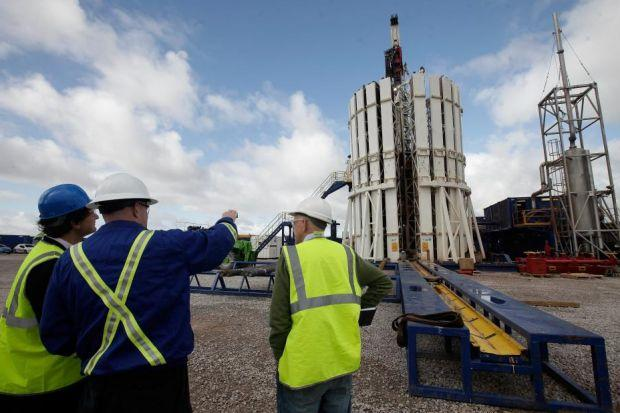 GROWTH HOPE: Experts at the Cuadrilla fracking facility in Preston, Lancashire. Picture: Matthew Lloyd