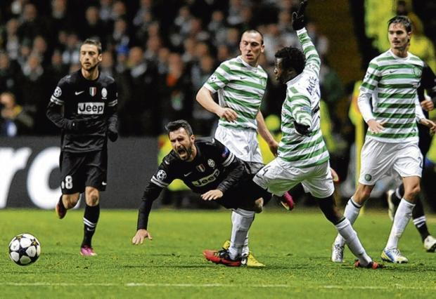 Efe Ambrose was at fault for two of Juventus' goals