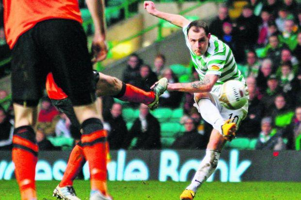 Anthony Stokes' contract is up at the end of the season but his goals proved a reminder to his manager  	          Photograph: Stewart Attwood