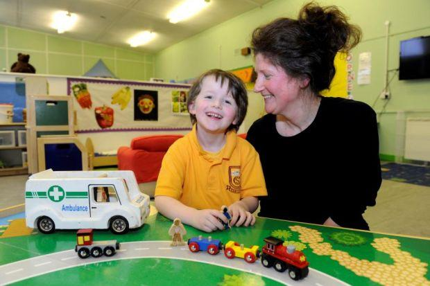 FUNTIME: Laura McGilp playing with her fiver-year-old son Spencer at the Jeely Nursery, at Castlemilk Community Centre, Glasgow. Picture: James Galloway CONFiDENT: Glasgow's Director of Public Health Dr Linda De Caestecker.