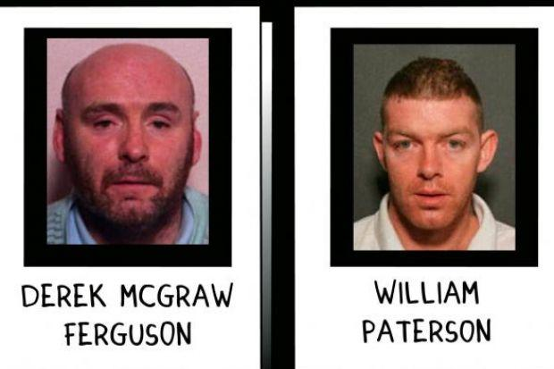 IN THE  FRAME:  Derek Ferguson and William Paterson are believed to be hiding out in Spain.