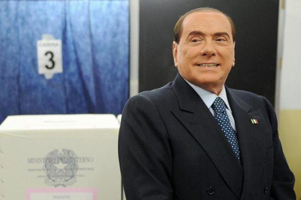 KEY PLAYER: Silvio Berlusconi's coalition did better than expected.