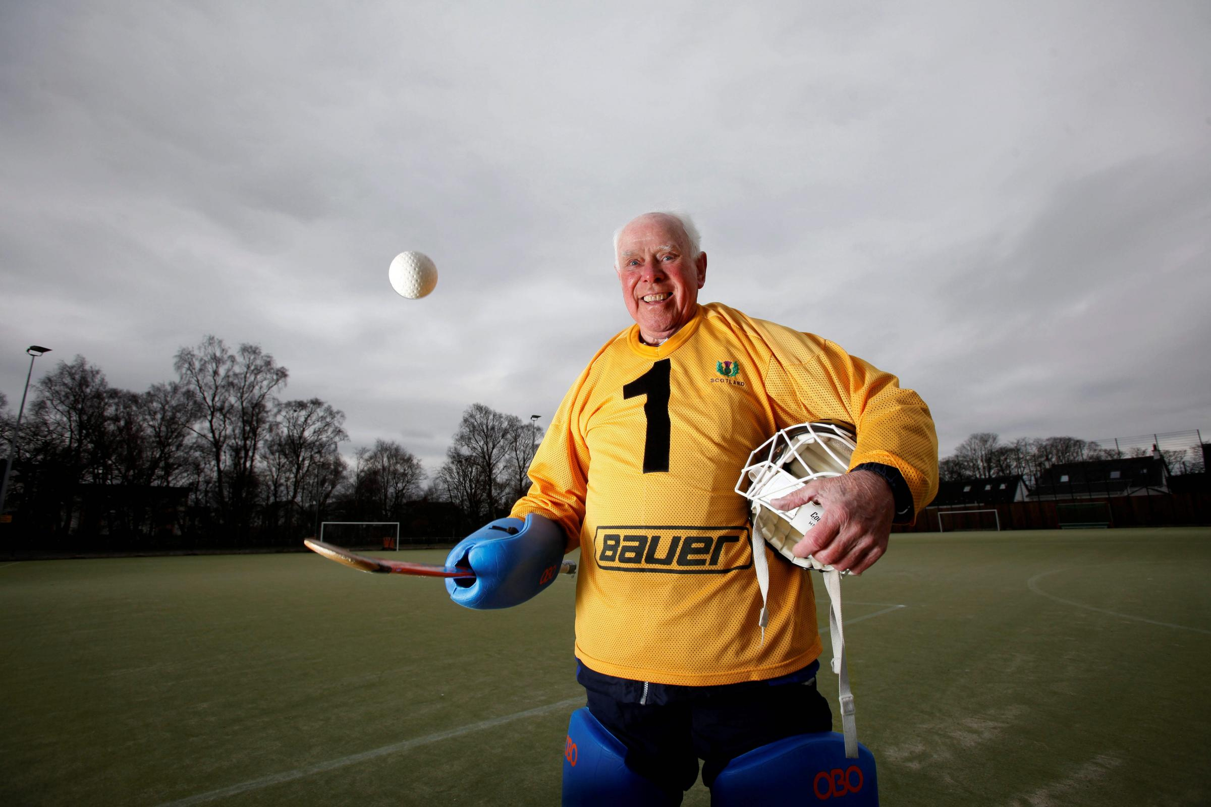George Black has been playing for Stepps Hockey Club since the 1940s