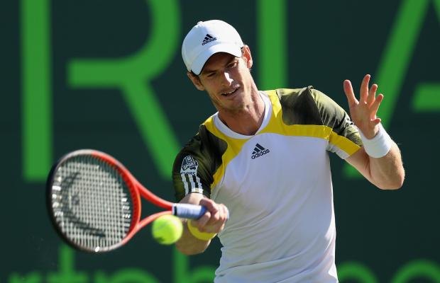 Andy Murray has not dropped a set on his way to the semi-finals in Miami. Picture: Getty Images