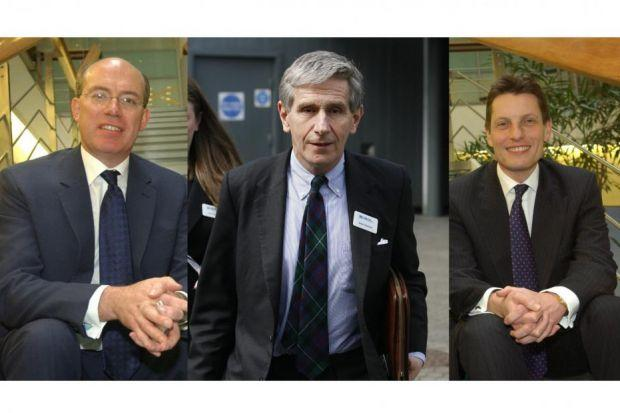 top TEAM: Sir James Crosby, chief executive until early 2007; Lord Stevenson, the HBOS chairman up to 2008; and Andy Hornby, chief executive for two years after Sir James.