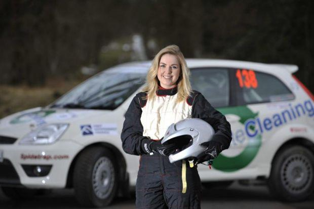 DRIVE: Caroline Carslaw is one of the fastest rising female rally drivers in Scotland, after coming second in her first Scottish Rally Championship event. Picture: Jamie Simpson.