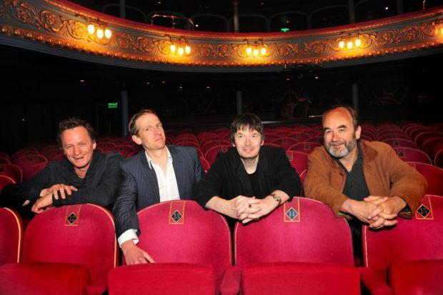 TEAMING UP: Celebrated writer Ian Rankin, centre right, with the Lyceum's creative team of Mark Thomson, Tim Barrow and David Haig.