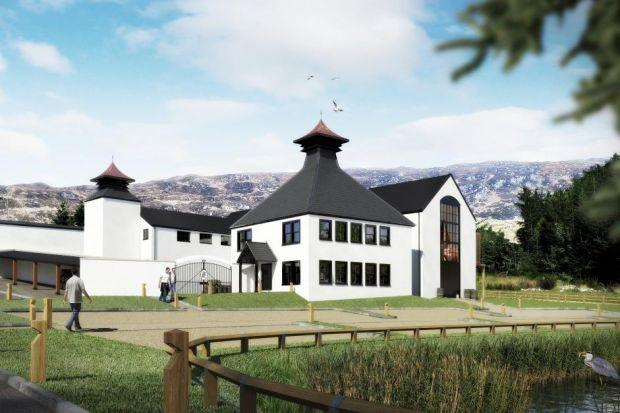 FUTURE SCENE: Artwork showing the Ardnamurchan Distillery, a multimillion-pound project which aims to be producing spirits by the end of this year.  GRAEME BOWIE: Initially will oversee visitor centre project.