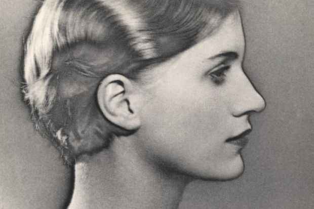 Man Ray, Self-Portrait with Camera (1930) and, left, Solarised Portrait of Lee Miller (1929)