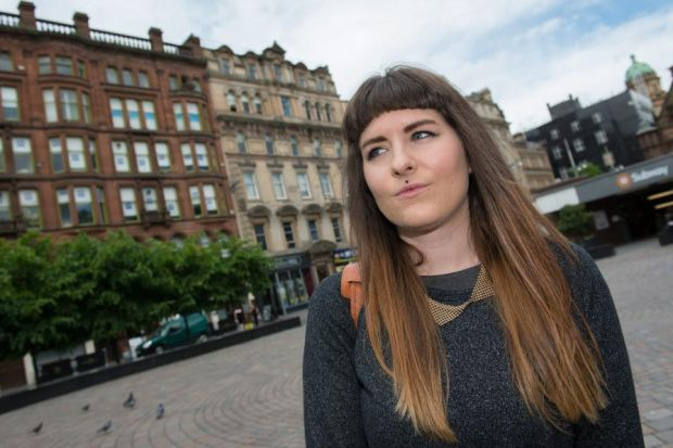BACKING: Student Melissa Stephen supports the NUS Scotland campaign to stop payday loan firms targeting students on campus. Picture: Steve Welsh