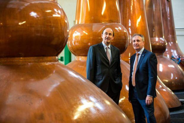 SUCCESS DISTILLED: Chivas Brothers chief Christian Porta with Scottish Cabinet Minister Richard Lochhead at Glen Keith.