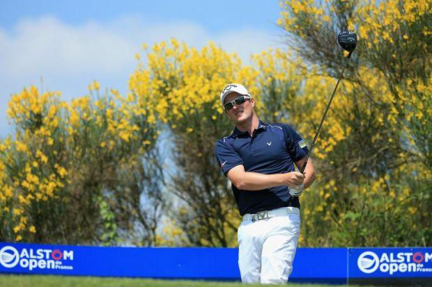 Marc Warren was in contention for 10 holes at the Alstom Open de France but fell back with three bogeys and a double-bogey. Graeme McDowell won by two shots from Richard Sterne