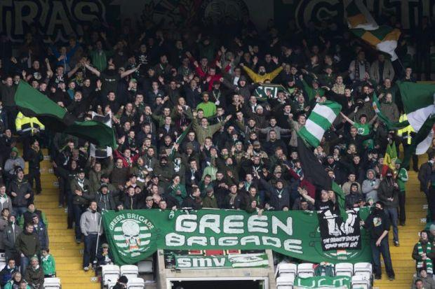 GREEN BRIGADE: The club condemned the actions of some supporters, including body surfing. Picture: SNS Group