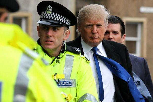 Donald Trump arrives at the Scottish Parliament in April 2012, to appear before the Economy, Energy and Tourism CommitteePhotograph: PA/Andrew Milligan