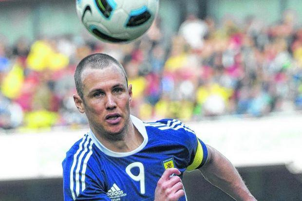 out on his own: Kenny Miller has a workrate second to none and spent much of                                            his international career ploughing a lone furrow