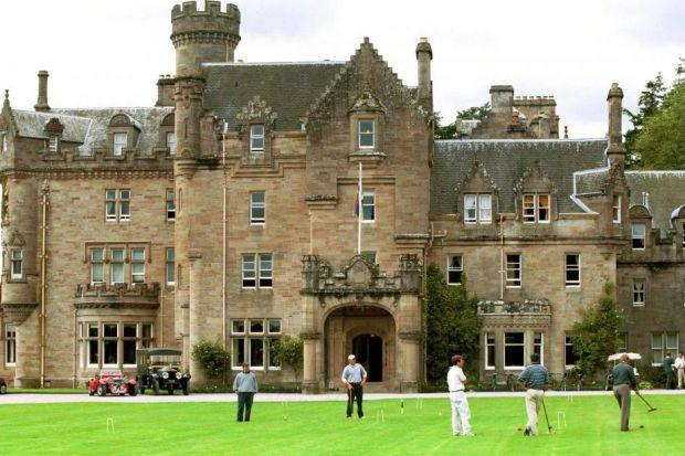 Prestige Venue Madonna And Guy Ritchie Held Their Nuptials At Skibo Which Is Por