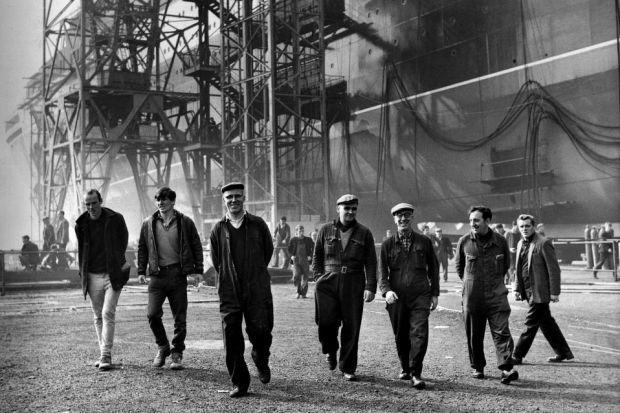 HEALTHIER DAYS: Employment from shipbuilding gave men a reason to live. The industry??s collapse caused a void that was filled by ??drink, drugs and fighting??.