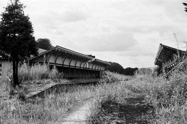 A disused railway station on the former Borders railway ... now doubts have been raised over the new project