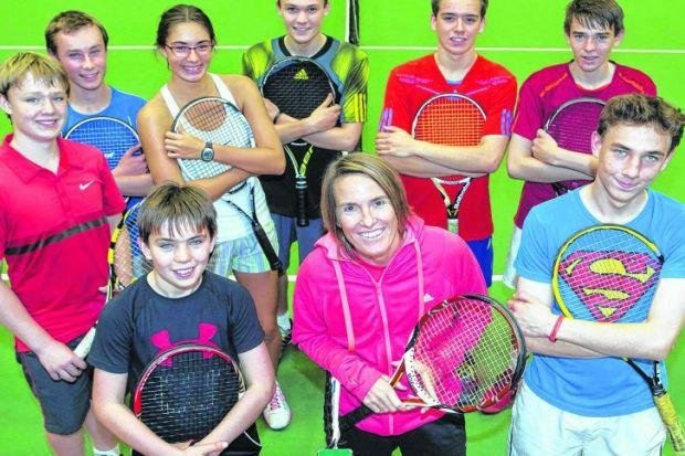 Justine Henin was in Aberdeen to pass on her knowledge to aspiring players. Picture: Newsline