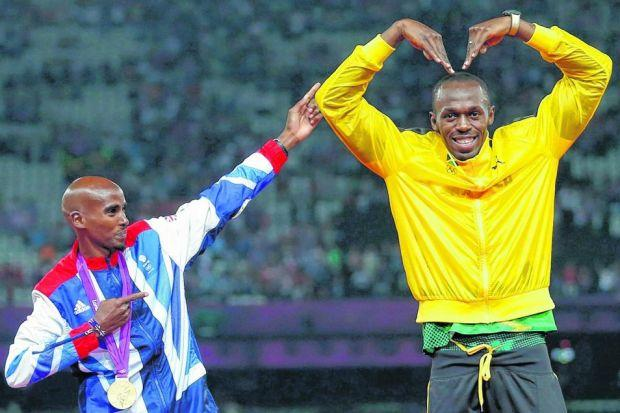 Question marks hang over the 2014 participation of both Mo Farah and Usain Bolt. Picture: Reuters
