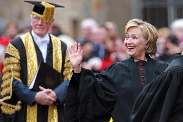 HIGH SPIRITS: Hillary Clinton.