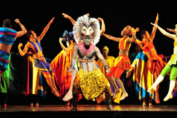 Nicholas Nkuna takes centre stage as Simba in The Lion King, nailing a showpiece solo song in the second half