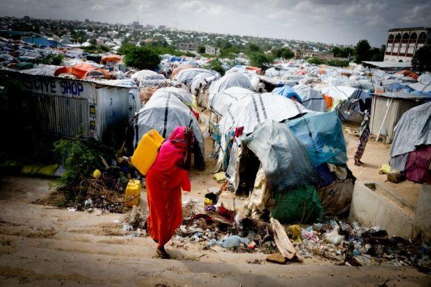 A camp in central Mogadishu