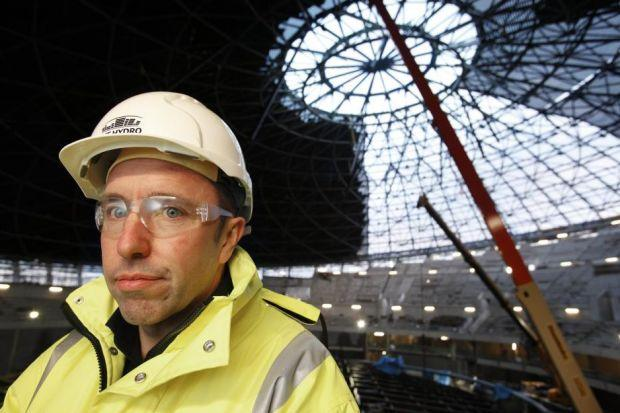 SAFE HANDS: SECC boss John Sharkey was responsible for the building and launch of Glasgow's new SSE Hydro Arena.                      Picture: Jamie Simpson