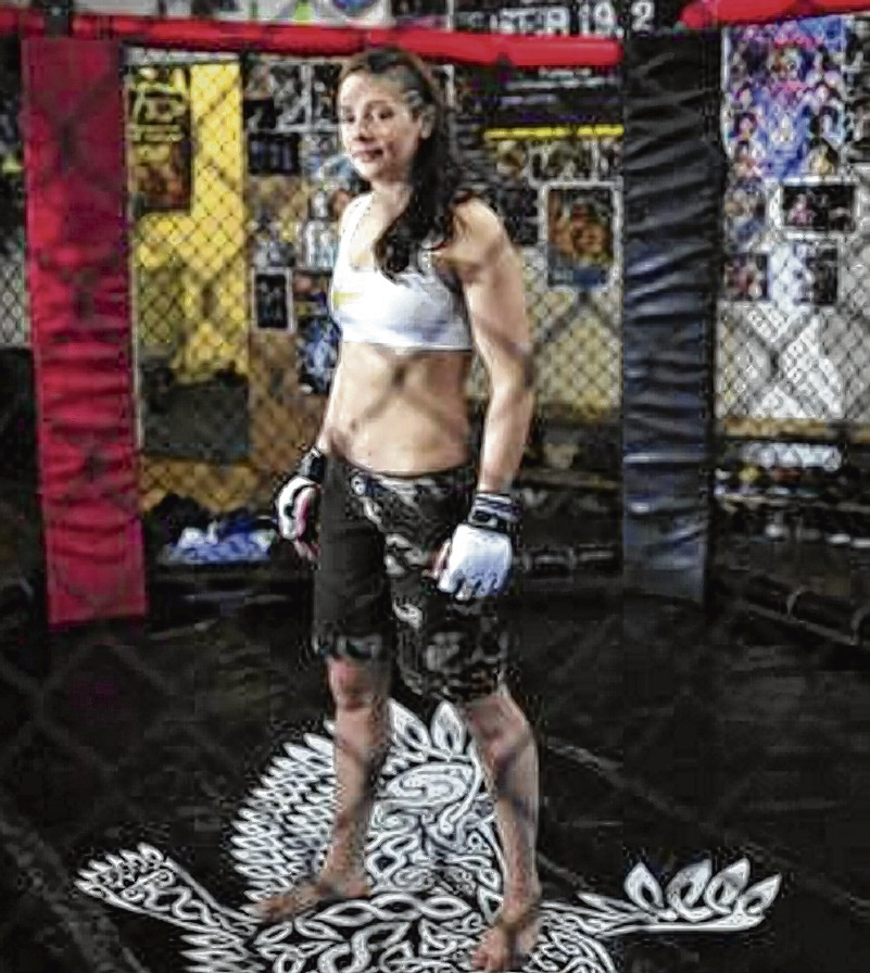 Joanne Calderwood at The Griphouse, the home of the Dinky Ninja Fight Team
