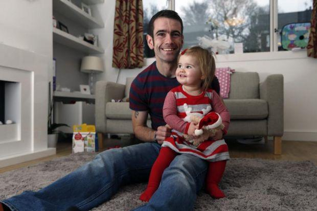NEST EGG: Charles Brister and his partner Emma-Jane have found a Bank of Scotland account for their daughter Holly. Picture: Colin Templeton