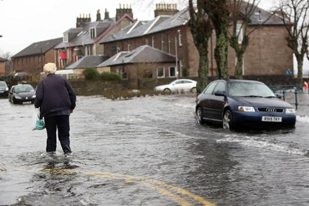 Travel disruption as storm hits Scotland