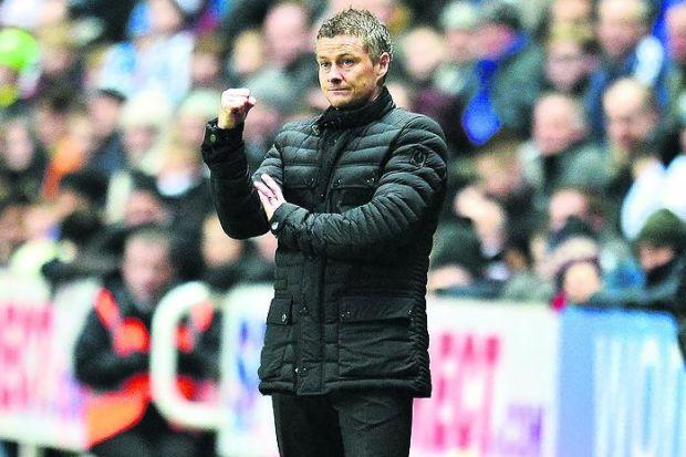 Solskjaer oversees Cardiff's FA Cup win at Newcastle Photograph: PA