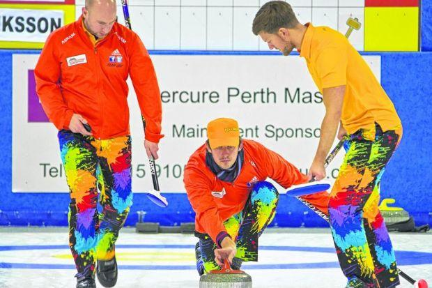 Logan Gray's Stirling-based rink were hard to miss as they secured the title at the Mercure City of Perth Masters. Picture: Tom J Brydone