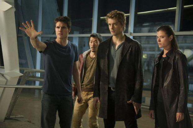 TODAY'S PEOPLE: Robbie Amell, Aaron Woo, Luke Mitchell and Peyton List.