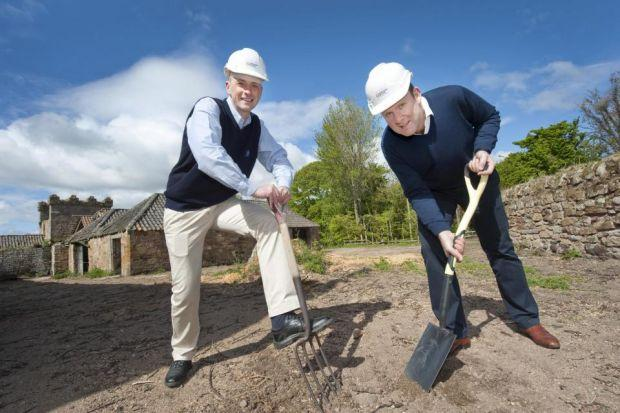 FRESH VENTURE: William Wemyss and Doug Clement start work on the Kingsbarns distillery. Picture: Douglas Robertson