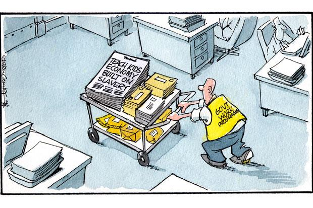 Camley's Cartoon: what happens if slavery becomes part of the school curriculum?